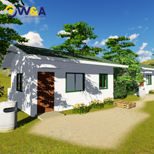 (WAS1004-36D)Customized Durable ALC Panel Small Prefab Houses Designs for Kenya