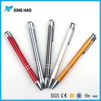 Personalized logo gift metal click ball pen promotion plastic ballpoint pen for stationery