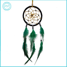 Pretty Fashion Home Hanging Decorative Blackish Green Handmade Feather Small Dream Catcher