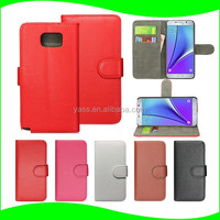 In Stock Wallet Stand for Samsung Note 5, for Samsung Galaxy Note 5 Edge Leather Case, for Samsung S6 Edge Plus Case