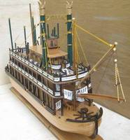 wood craft ship miniature king missisipi 80cm