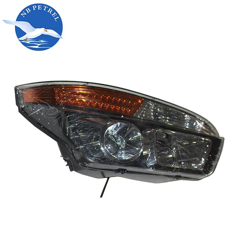 Heavy duty truck parts glass headlight lens