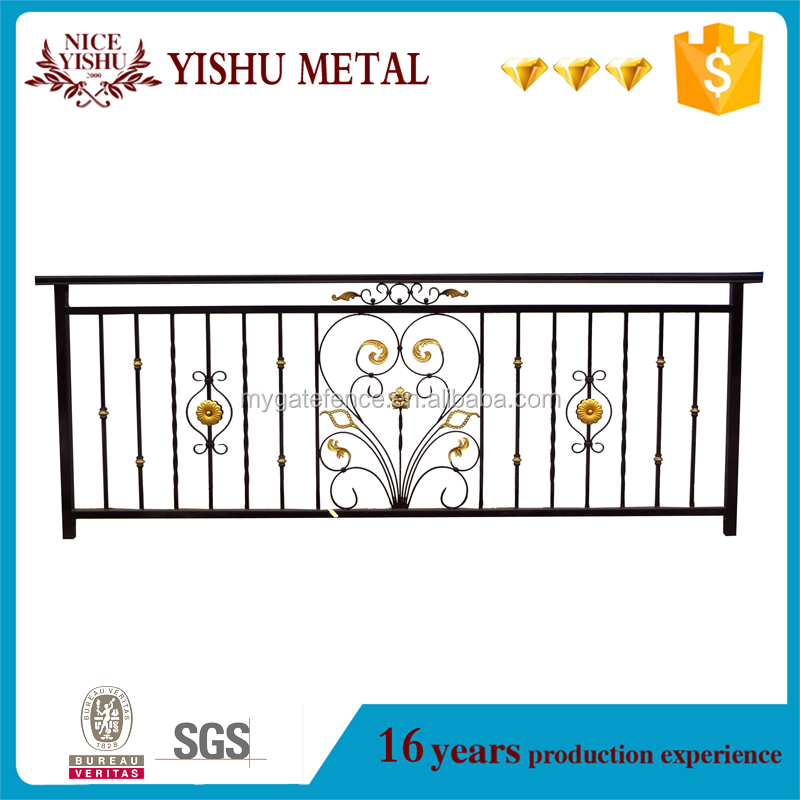 2017 new style customized steel grills fence design for home garden