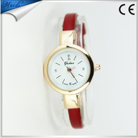 China Cheaper 2016 Women's Rhinestone Leather Super Thin Strap Quartz Analog Dress Ladies Bracelet watches Wrist Watch LW021