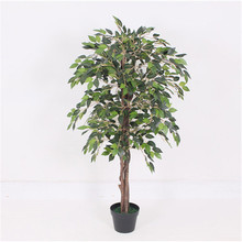 Manufacturer attractive style realistic home decor artificial ficus banyan plants bonsai