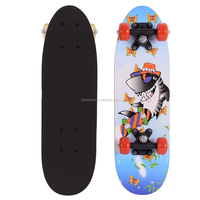 2106SB-1VC4828A chinese maple wooden four pvc wheel kid mini graphic skateboard