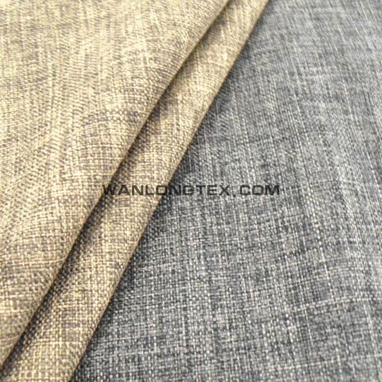 grey poly linen textile for sofa,hometextile and upholstery