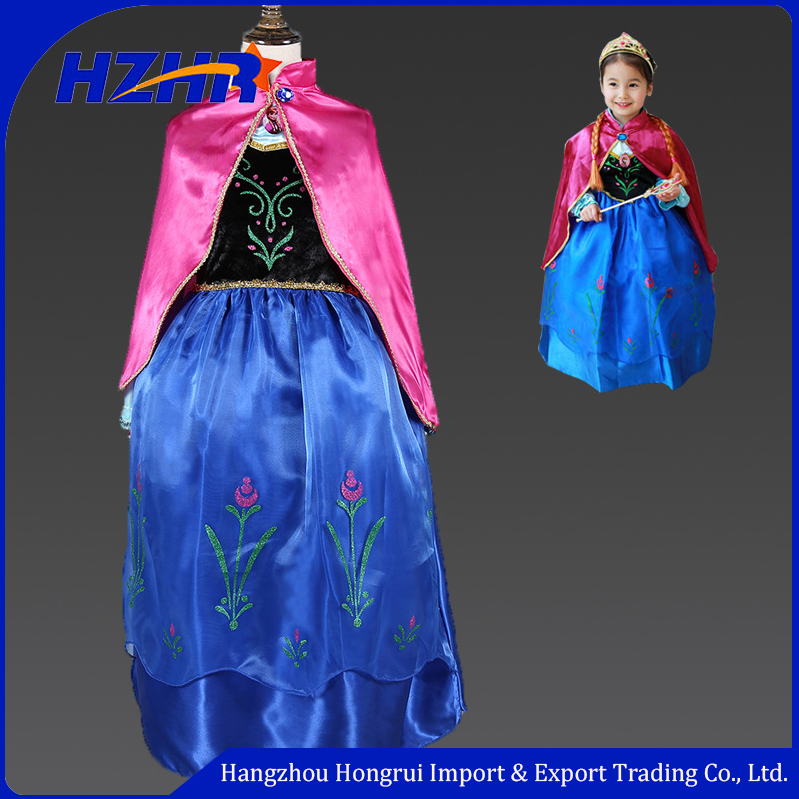 Wholesale kids wedding dress costume,Frozen princess dress, Kids Frozen costume