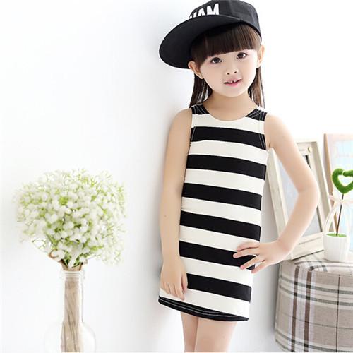 Cheap black girl white dress find black girl white dress deals on new kids girl dress fashion cacual lovely striped dress whitegraywhite black mightylinksfo