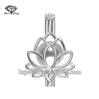 Beautiful 925 Sterling Silver Lotus Cage