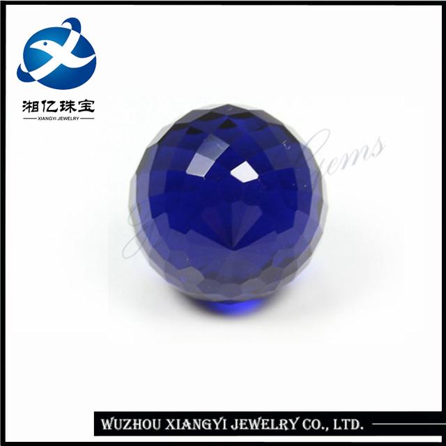 checker face sapphire blue crystal glass beads