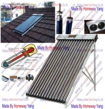 heat pipe collector for pool heating/split solar water heater system