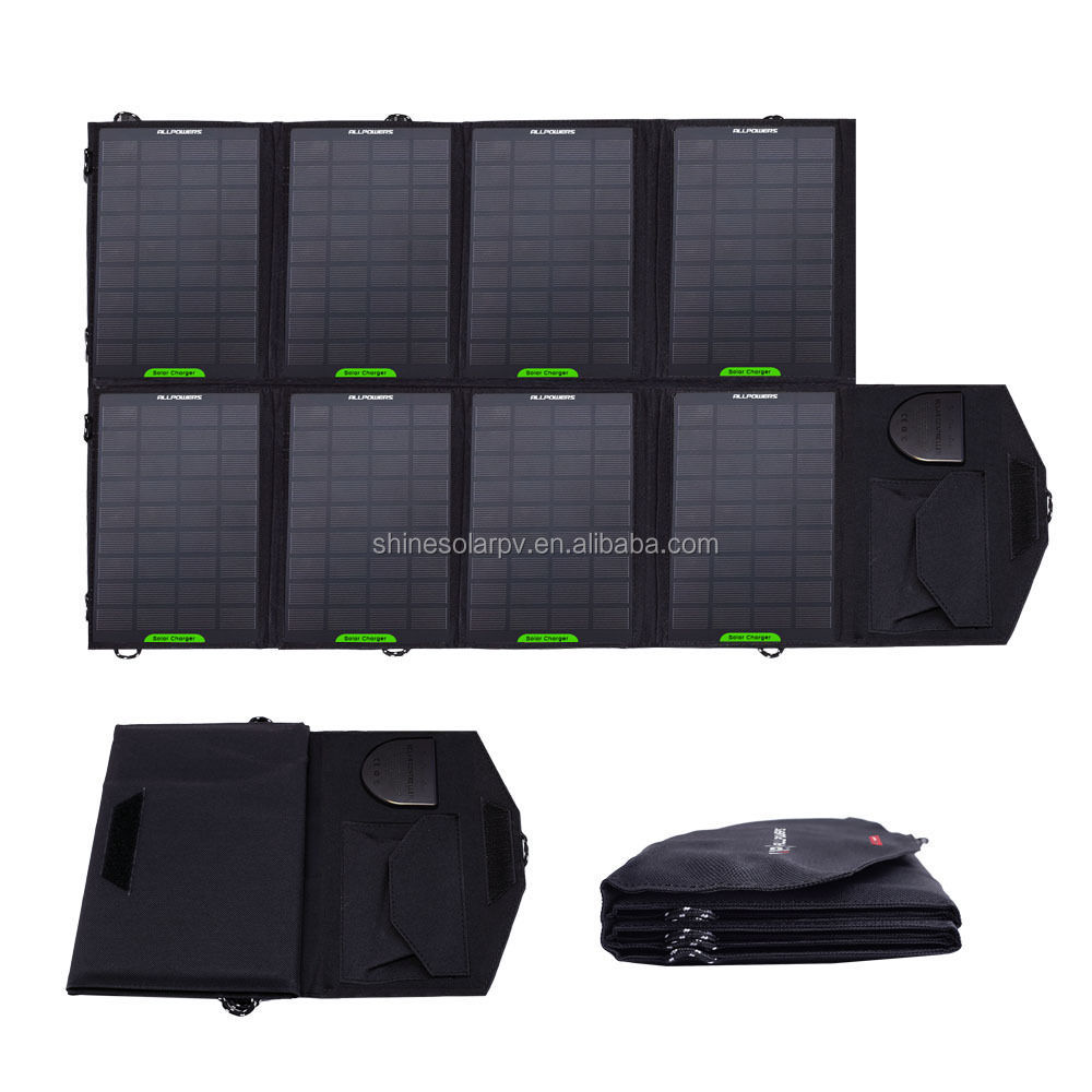 2017 Hottest !Outdoor Portable Solar Charger slim folding solar panel for Mobile Phone