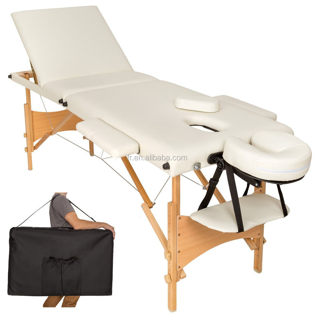 Most popular massage table within wooden adjustable backrest