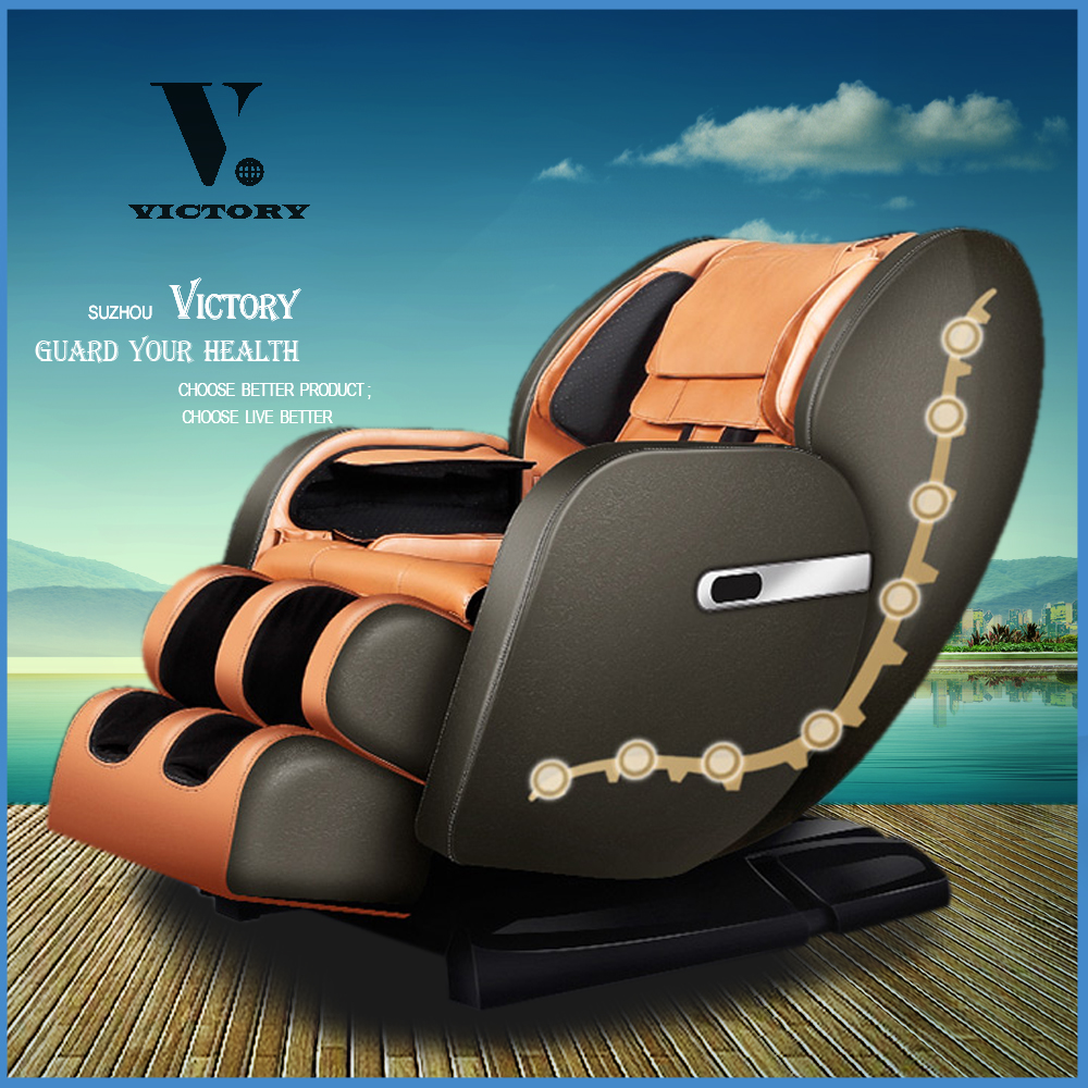 luxury therapy massage chair with electrically jade heating