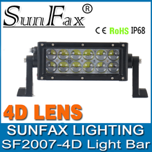 Auto driving lighting 36w 4x4 4D straight high lumen 7.5inch 4D cover 4x4 led light bar C REE led off road led light bars