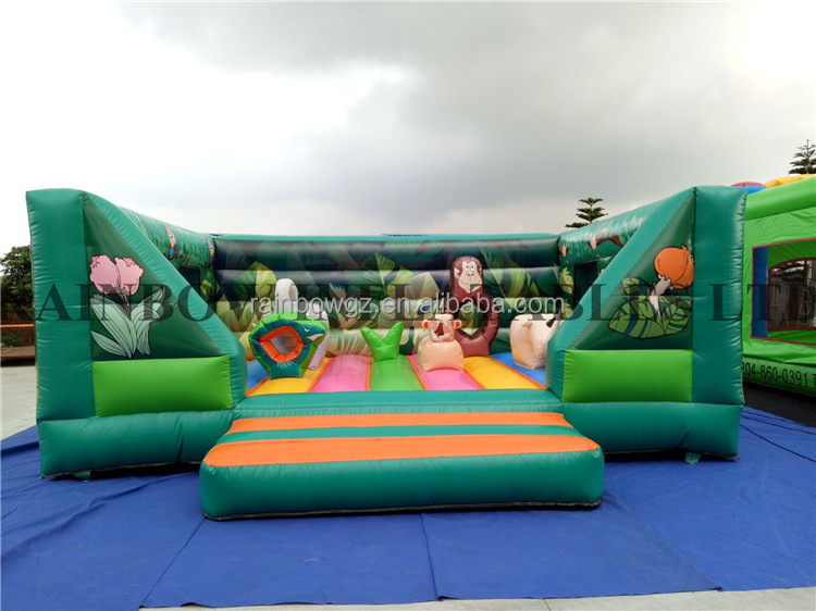 Inflatable Animals Bouncy Castle Combo Inflatable Obstacle Inflatable Jumping Castle