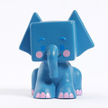 Plastic material blue shy elephant coin bank for sale/professional custom money box/tin can piggy bank manufacturers
