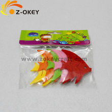Fish shape felt crafts stickers for kids