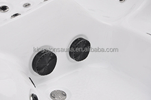 CE approved simple stainless jets bathtubs JCS-65 with feet massage jets