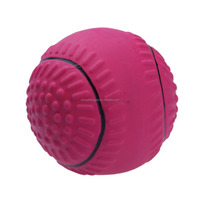 Wholesale Dark Pink Chase and Chew Latex Baseball Dog Toy