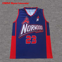 Sublimation printed basketball jerseys design for team