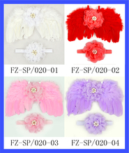 2017 Newest Design Baby Wings With Matched Headband Cute Feather Angel Wings Wholesale