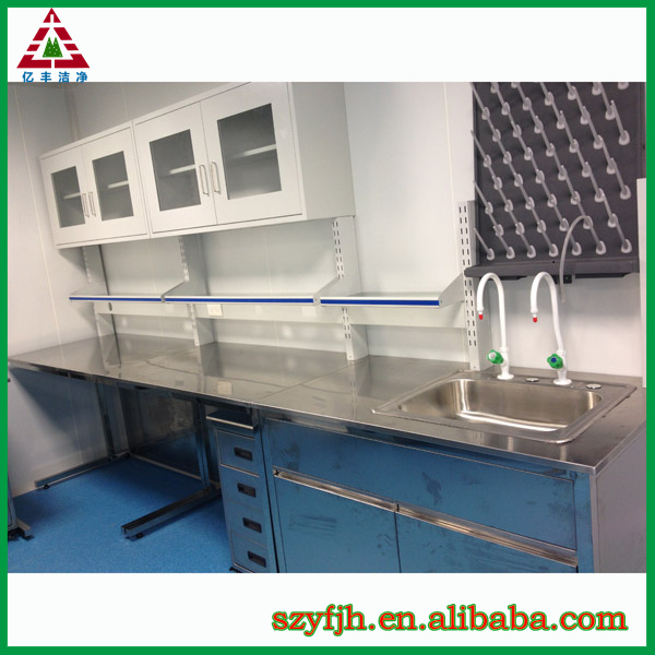 Lab furniture designs/medical laboratory furniture/work bench with wall cabinet
