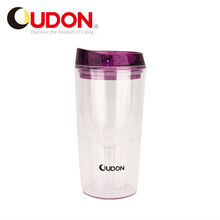 Best Selling Best Quality Optional Custom 280ml Clear Plastic Double Wall Travel Mug