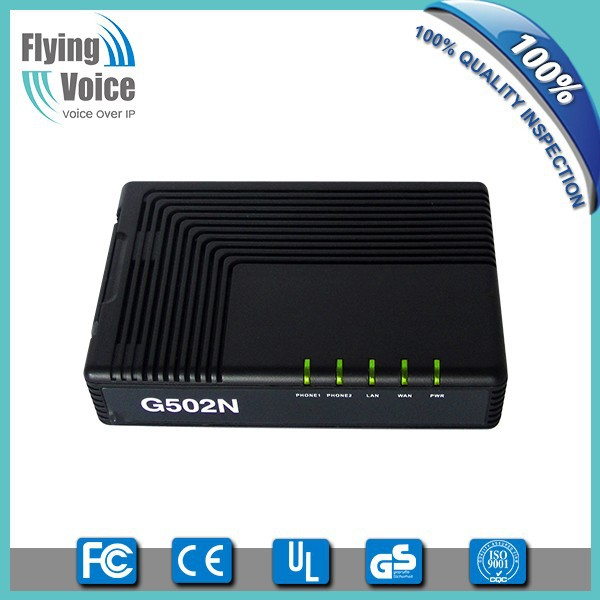 fxo to fxs converter voip adapter support t.38 and t.30 fax G502N