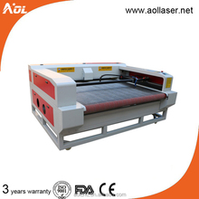 textile leather fabric laser cutting machine price with auto feeding table