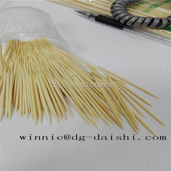 Natural Bamboo Tooth Picks of Factory Supply daily necessities China supplier Diameter 2.0mm Chinese Bamboo