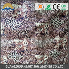 hot sell animal pattern pu/pvc leather wholesale fabric for doing shoes and handbgas