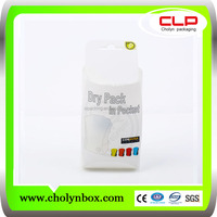 custom-made PVC foldable plastic printing clothes packaging box
