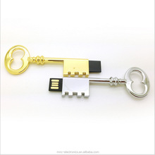 Custom laser engraving logo ancient metal key shaped 4GB usb flash memory stick