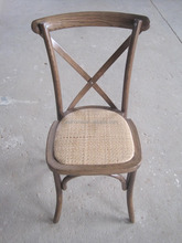 Vintage Oak/beech/birch wood dining cross back chair, X back chair