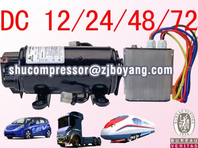 Automotive electric air conditioning <strong>compressor</strong> for Roof top mounted mini truck air conditioner mini van air conditioner