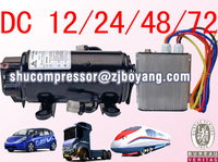 Automotive electric air conditioning compressor for Roof top mounted mini truck air conditioner mini van air conditioner