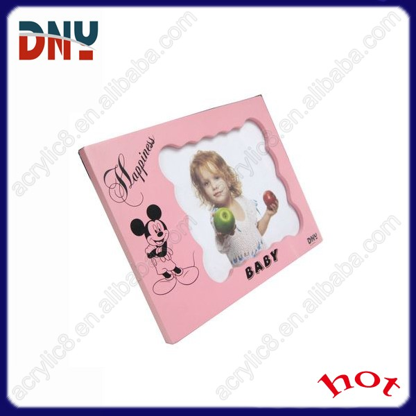 lovely baby picture photo frame ,pink photo frame for girl