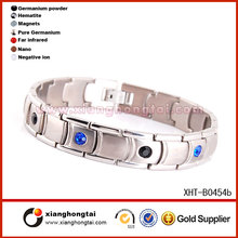 High quality Neodymium magnet stainless steel trendy bracelet 2014