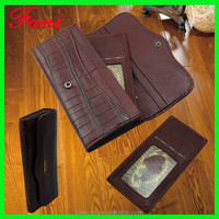Guangzhou Fani Leather Factory producing crocodile skin genuine leather wallet for ladies