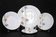 fine porcelain 20pcs dinner set with flower design