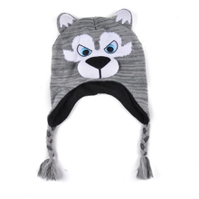Wholesale cute cartoon animal baby beanie hat winter cap custom