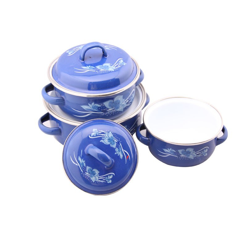 china supplier enamel coated cast iron cookware