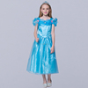 China Wholesale new style girl bule Cinderella costume kid fashion princess party long dress in cheap price