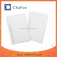 waterproof chip 125khz em4100 cards can print custom logo/serial number/barcode