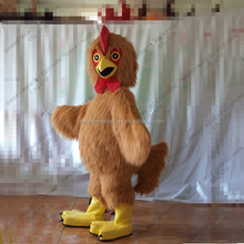 Hot brown cock costume adult chicken costume for adult to wear chicken costume