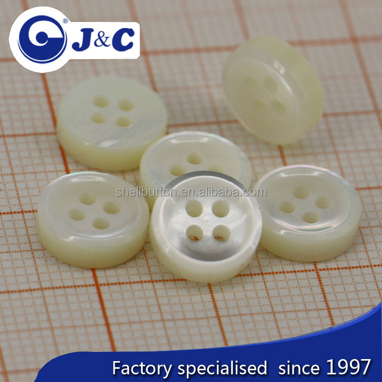 4 holes white MOP shell buttons ,mother of pearl sea shells shirt buttons
