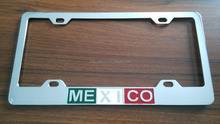 Gift custom chrome zinc alloy car license plate frame