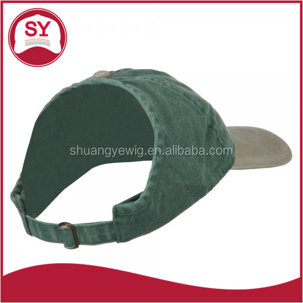 Pigment Dyed Ponytail Blank Baseball Cap Fitted with an inner hat band for adults/women